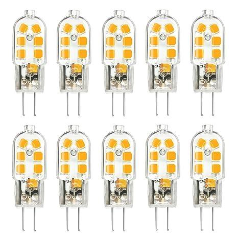 KINGSO 10 Pack Bombilla LED G4 3W Ahorro de Energía Equivalente a la Lámpara de 25W