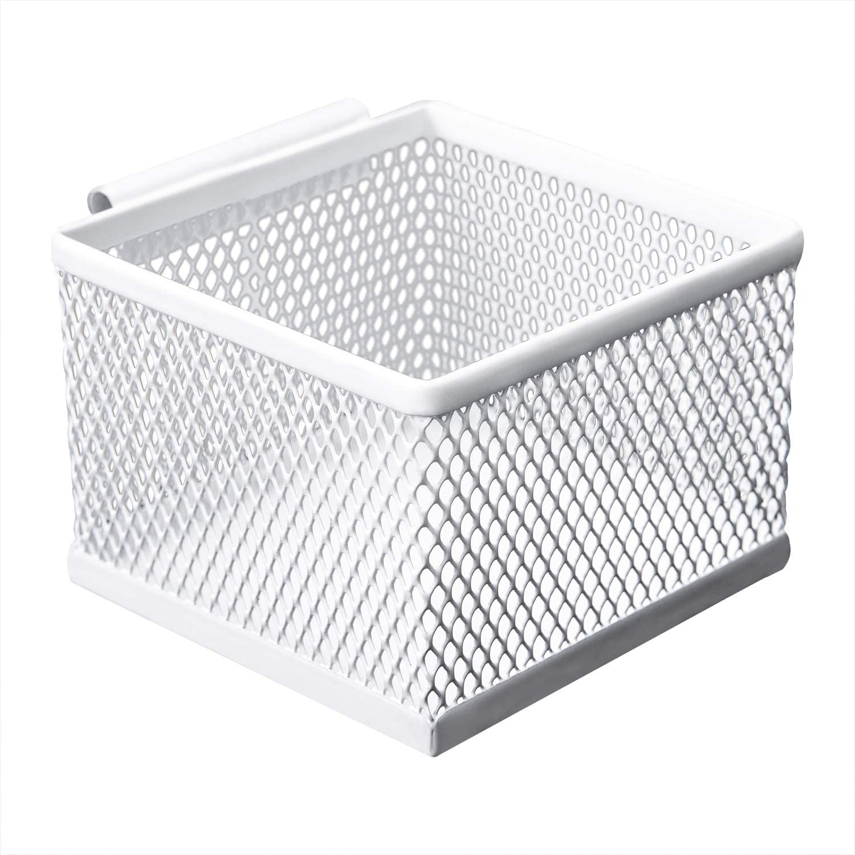 AmazonBasics Small Storage Box, Hanging White Mesh