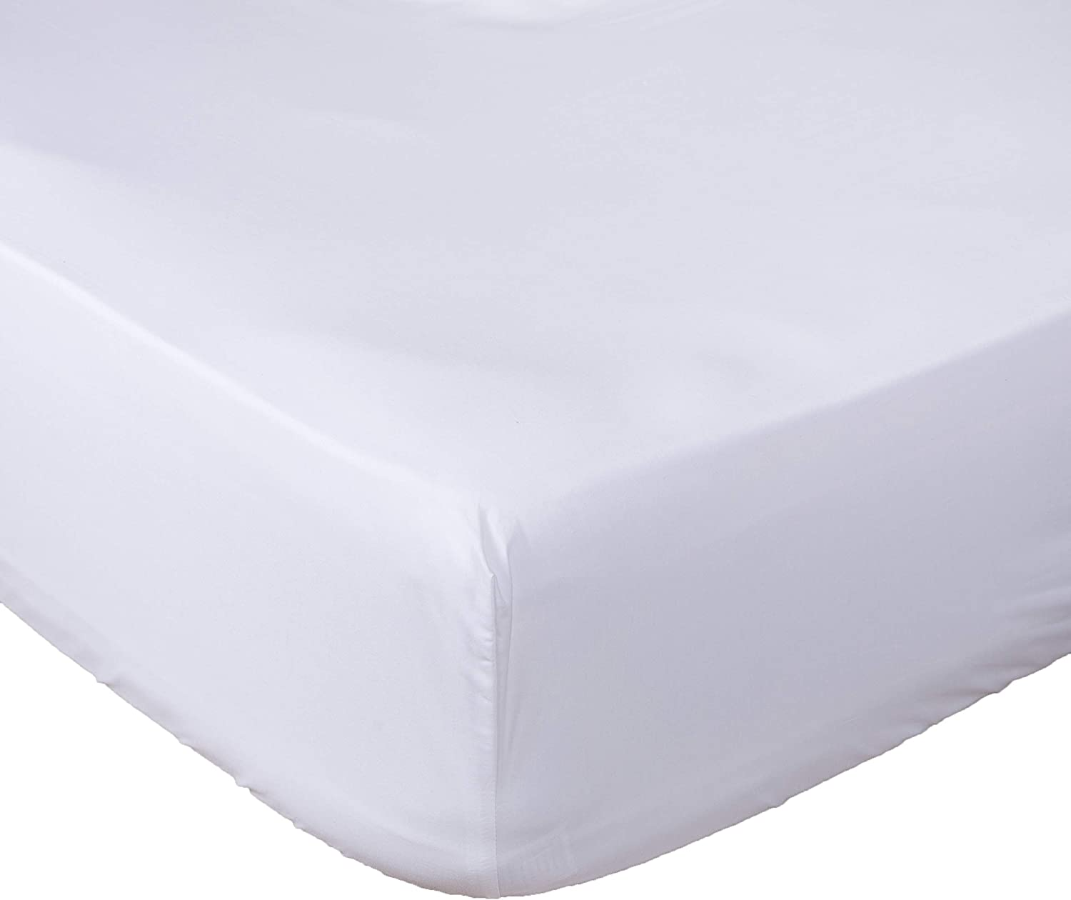 Lux Decor Collection Fitted Sheet King White Brushed Microfiber 1800 Bedding - Wrinkle, Fade, Stain Resistant - Hypoallergenic (White, King)