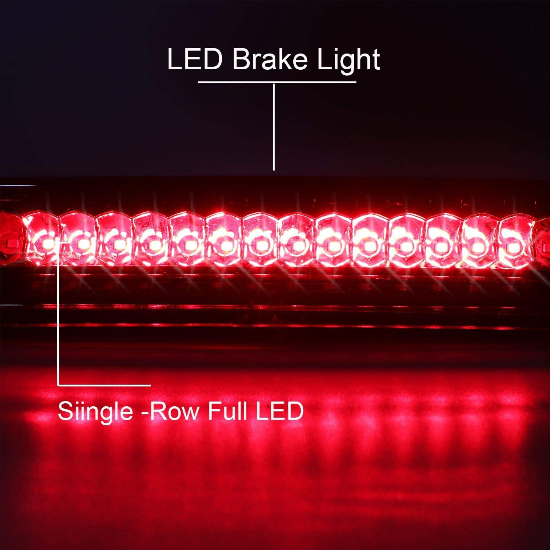 Red Lens For 2004-2015 Nissan Titan//2005-2016 Nissan Frontier Third Brake Light 3rd LED Cargo Light High Mount Lamp Center Light 26590-EA800
