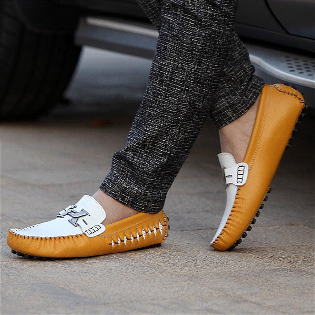 76484d235 Bridfa Mocasines de de de hombre de cuero genuino Loafers Zapatos de b9d995
