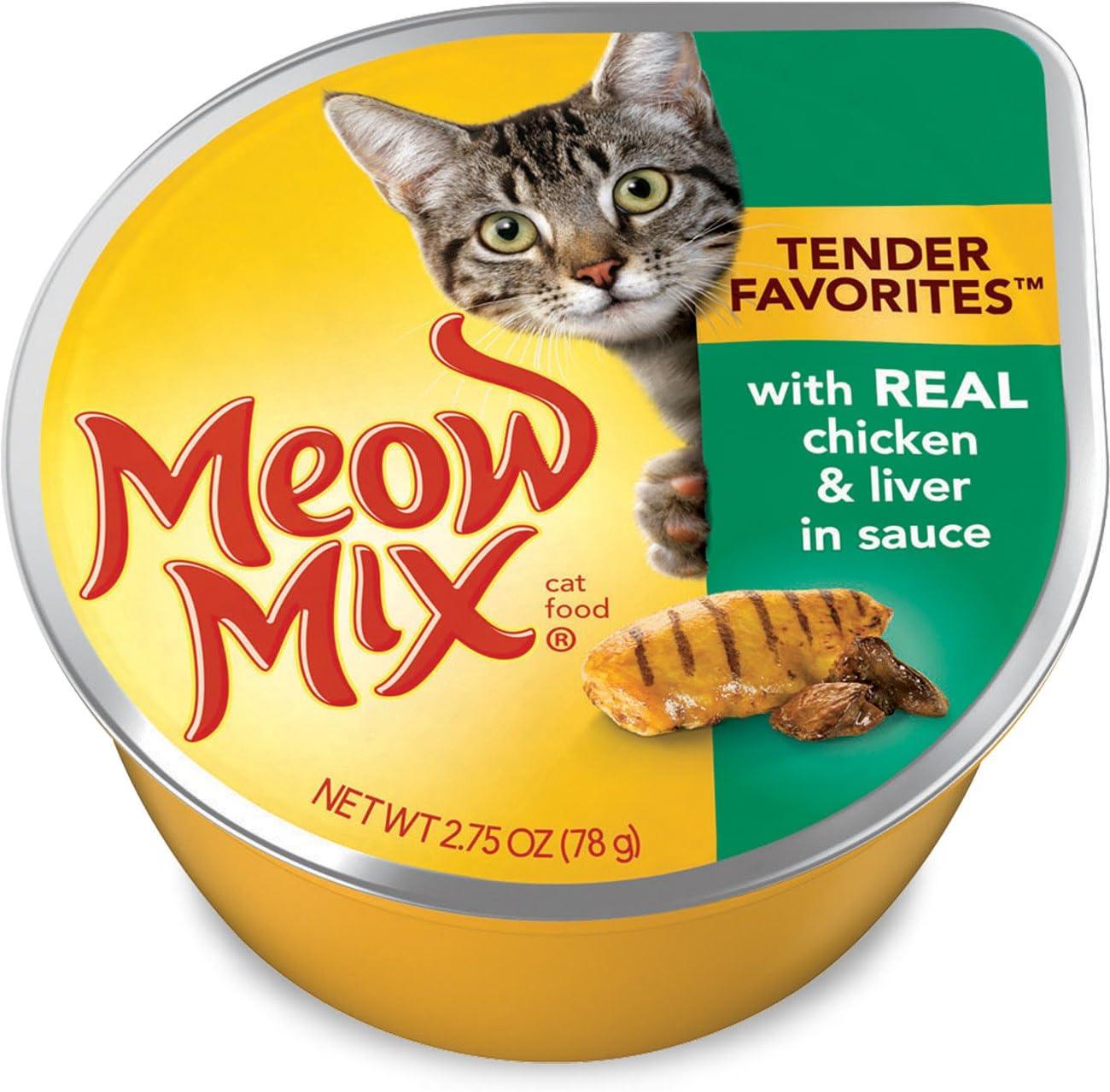 Meow Mix Tender Favorites Wet Cat Food