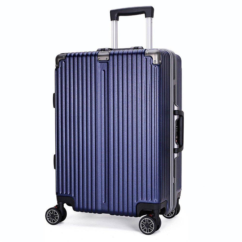 YHDD アルミ合金、ビジネス/旅行/荷物用のキャスター4輪トロリーケース、24