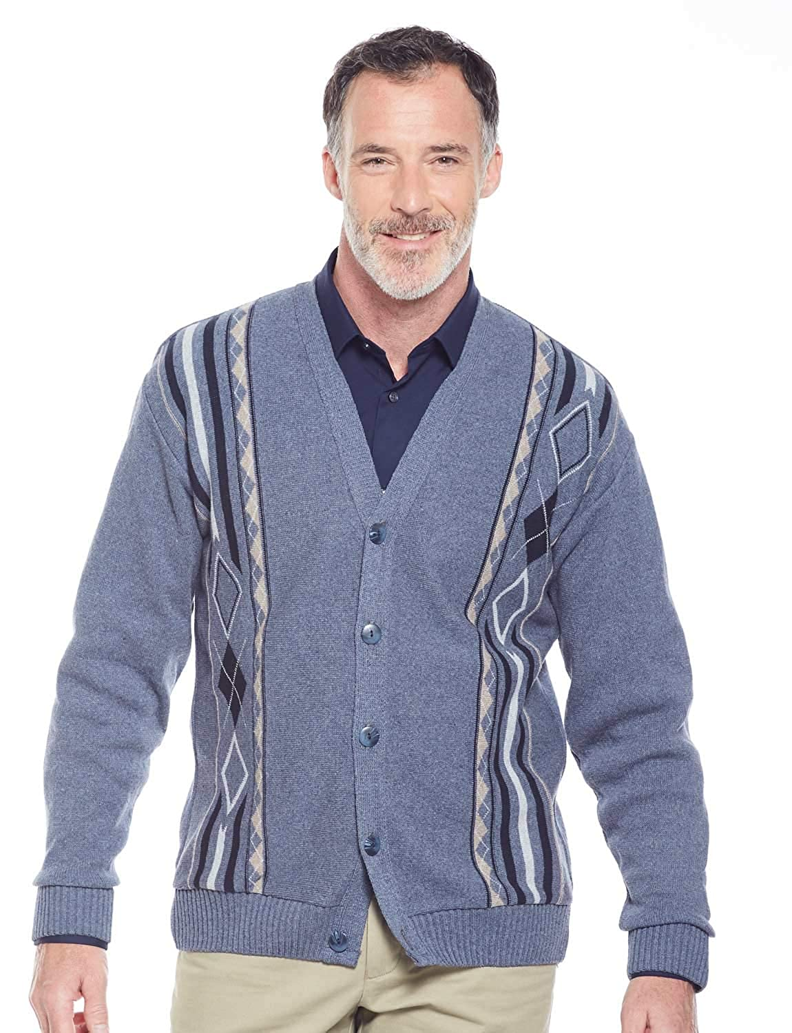 Benbrook Mens Jaquard Button Cardigan