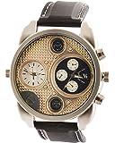 SHVAS Analogue Gold Dial Men's Watch -Watchmilblack