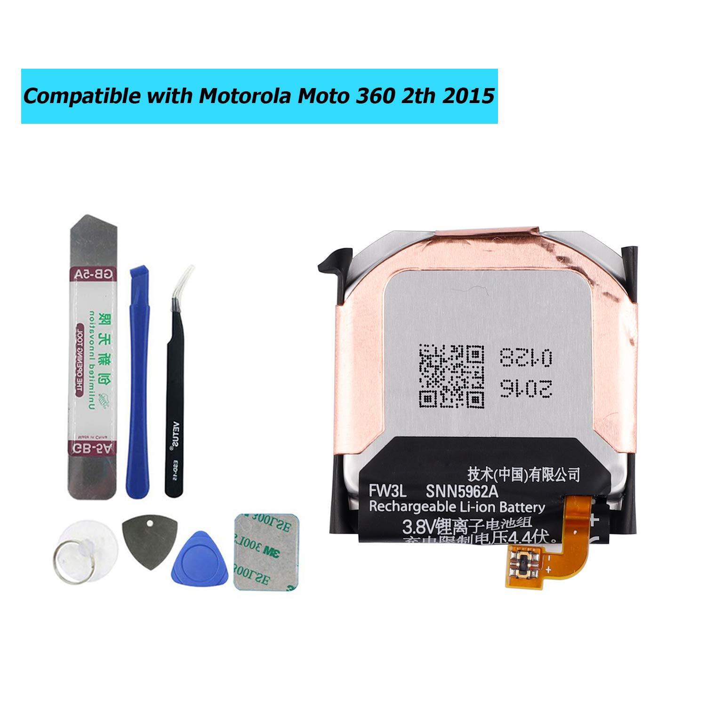 Bateria Para Moto 360 2nd-gen 2015 Snn5962a Fw3l
