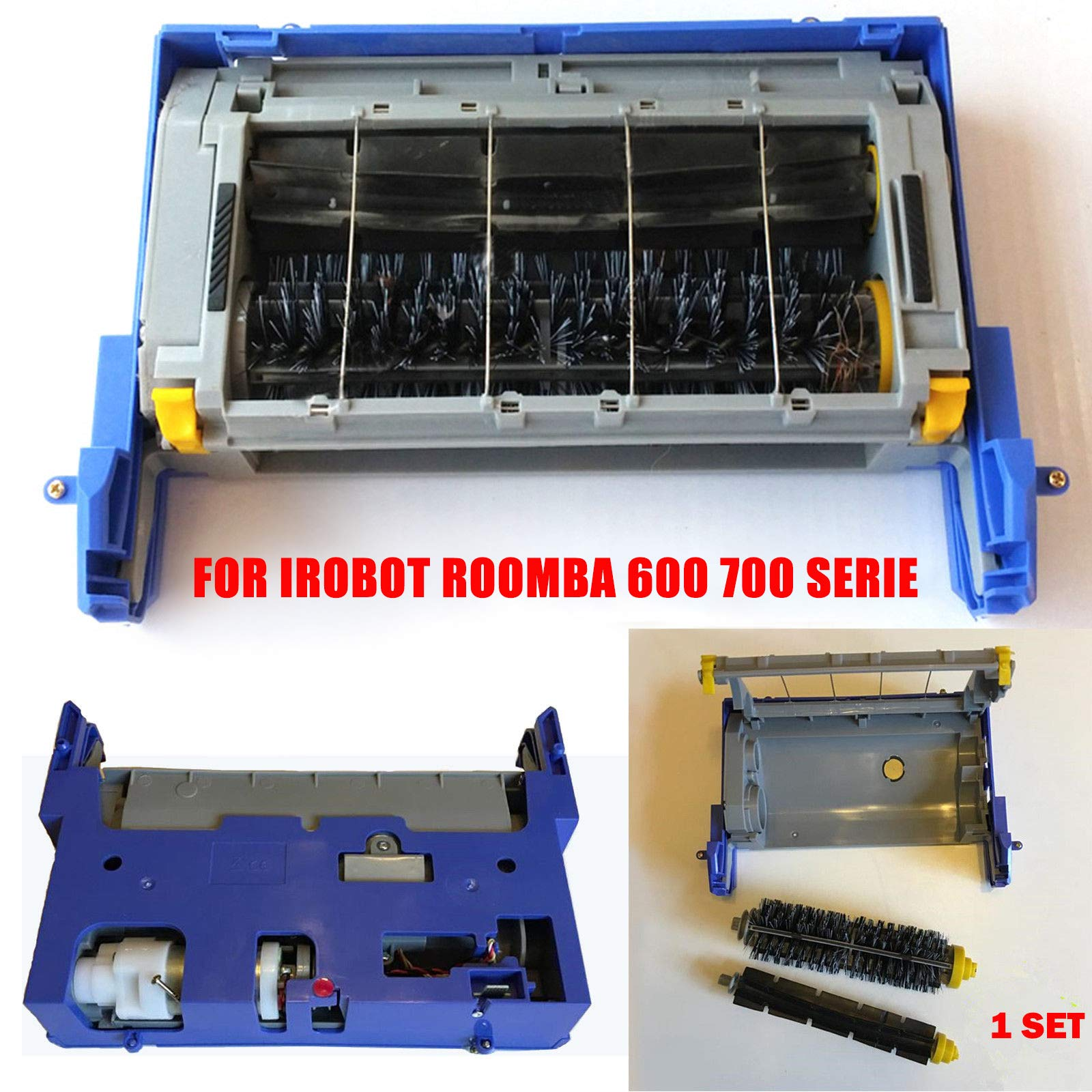color tree Main Brush Frame Box Assembly Module Part for irobot Roomba 600 700 Series Interchangeable 651 601 602 620 630 650 660 655 760 770 780 790