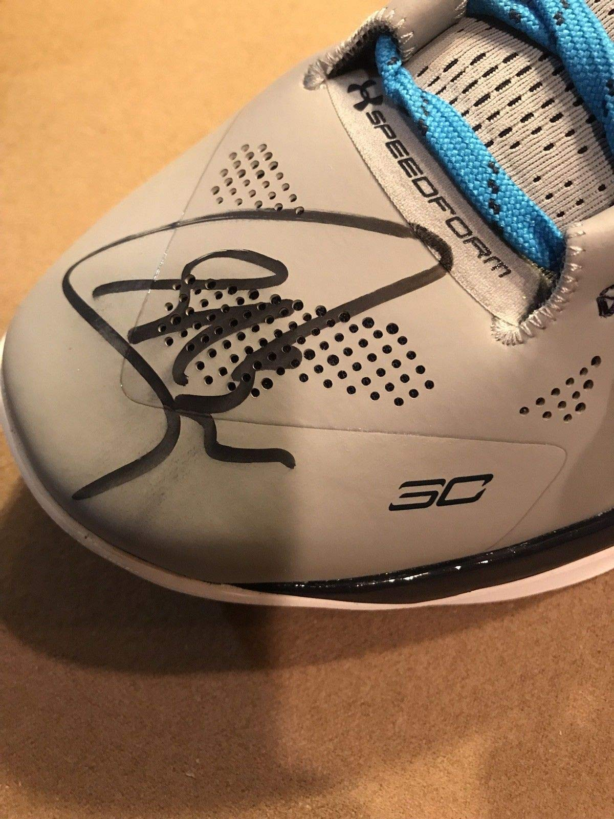 Steph Curry Autographed Signed Under Armour Curry Shoe PSA/DNA Warriors