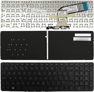 Keyboards4Laptops UK Layout Backlit Black Windows 8 Laptop Keyboard Compatible with HP Pavilion 17-F051NF, HP Pavilion 17-F052NF, HP Pavilion 17-F053CA, HP Pavilion 17-F053US, HP Pavilion 17-F061US