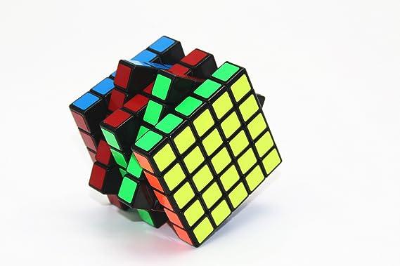 Rompecabezas mágico del cubo, cubo básico clásico de la velocidad de Shengshou Negro, 2X2x2,3X3x3,4x4X4,5x5X5