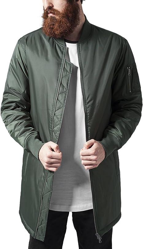 Urban Classics Herren Jacke Long Bomber Jacket