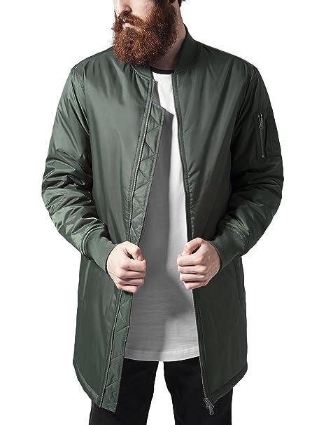 Urban Classics Long Bomber Jacket, Chaqueta para Hombre: Amazon.es: Ropa y accesorios