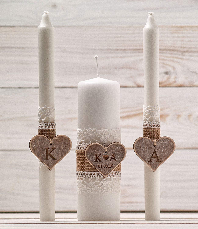 Amazon Com Wedding Unity Candle Set Rustic Unity Candle Church