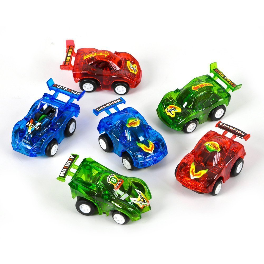 Amazon.com: Rhode Island Novelty Pull Back Racer Cars (24 Pack ...