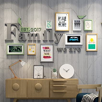 WollWoll Family Word European Living Room Bedroom Abstract Art Photo Frame  Set (172 Cm X