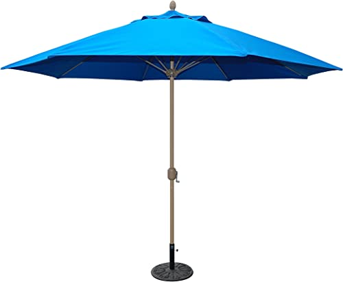 Tropishade 11 Sunbrella Patio Umbrella with Royal Blue Cover