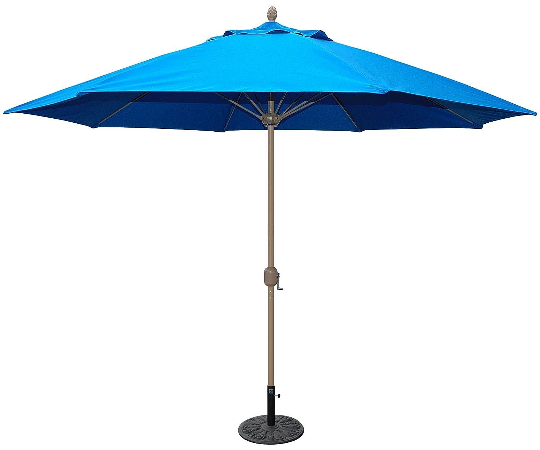 Tropishade 11 Sunbrella Patio Umbrella with Royal Blue Cover