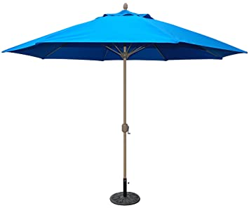 tropishade 11u0027 sunbrella patio umbrella with royal blue cover