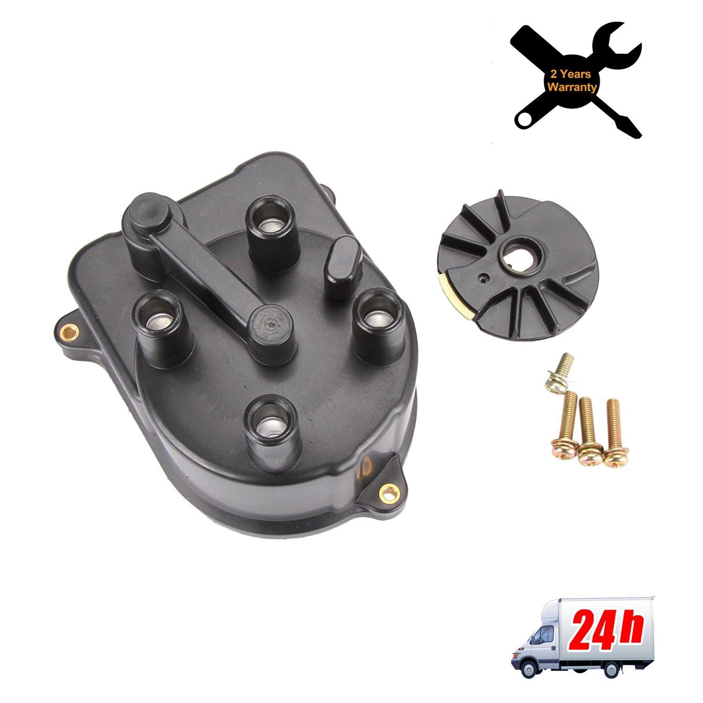 Distributor Cap and Distributor Rotor Ignition Kit 30103P08003 30102P54006 For Honda Civic 92-00 From Madlife Garage