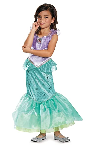 Amazon.com: Disguise Girls Disney Princess Deluxe Ariel The Little Mermaid  Costume Size Small 4/6X: Clothing