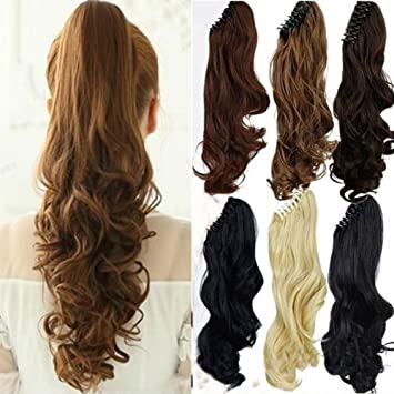 Amazon s noilite long thick claw jaw ponytail big wave clip s noilite long thick claw jaw ponytail big wave clip in pony tail hair extension pmusecretfo Images