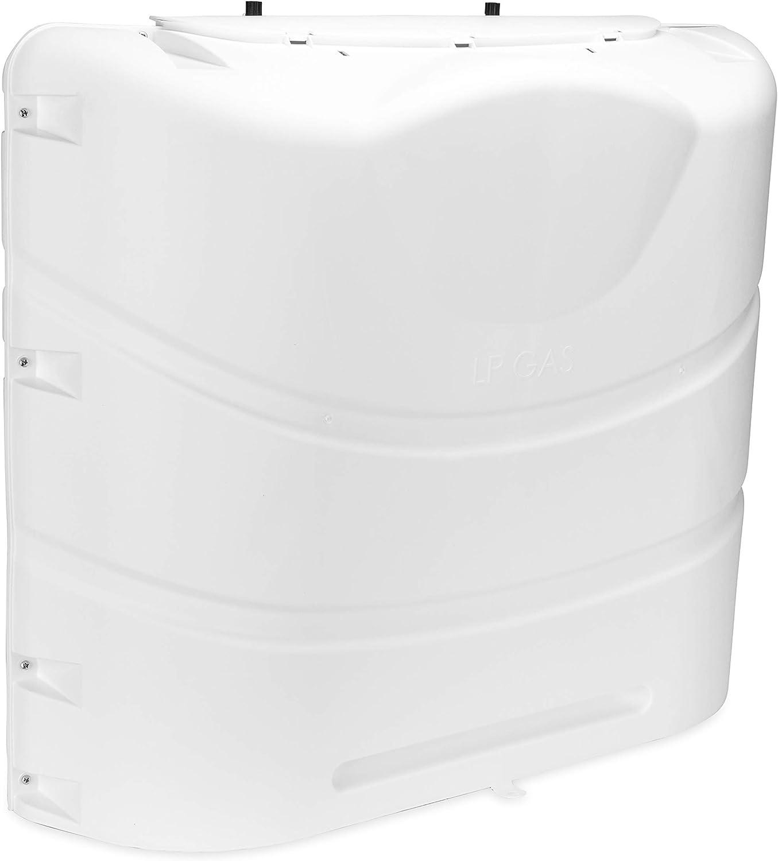 Camco 40559 Heavy-Duty 20lb or 30lb Dual Propane Tank Cover (Polar White): Automotive