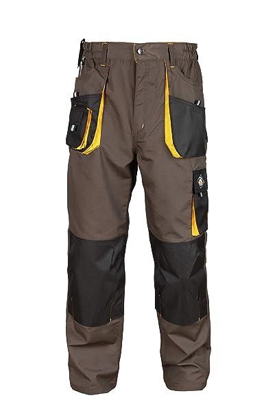 Stenso Emerton® - Pantaloni da Lavoro multitasca Extra Resistenti - Uomo -  Grigio Nero a17415ba47b