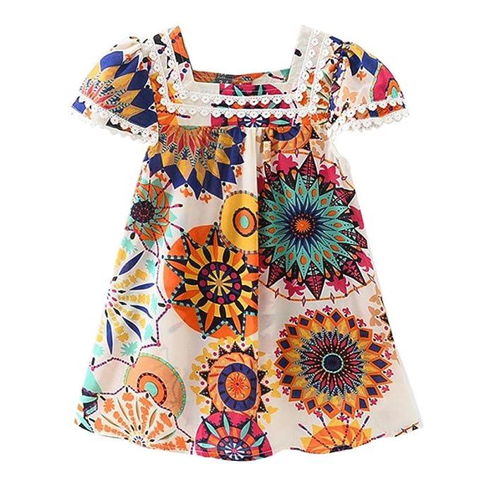 Amazon.com: Vestido de princesa de girasol para niñas de ...