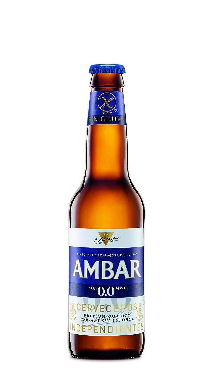 Ambar 0% Celiacos Cerveza - Paquete de 6 x 330 ml - Total: 1980 ml