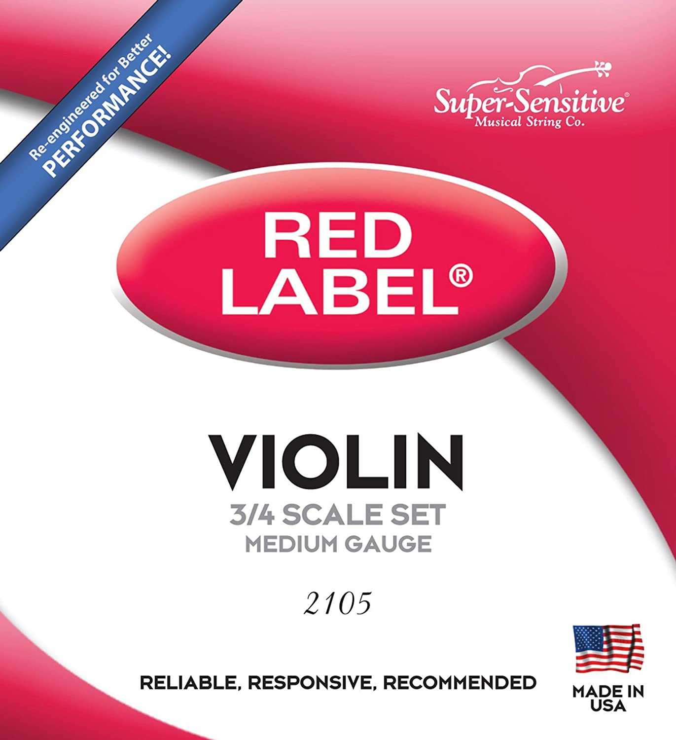 B0002D07FI Super Sensitive Steelcore 3/4 Violin Strings: Set 71TJOF1exWL