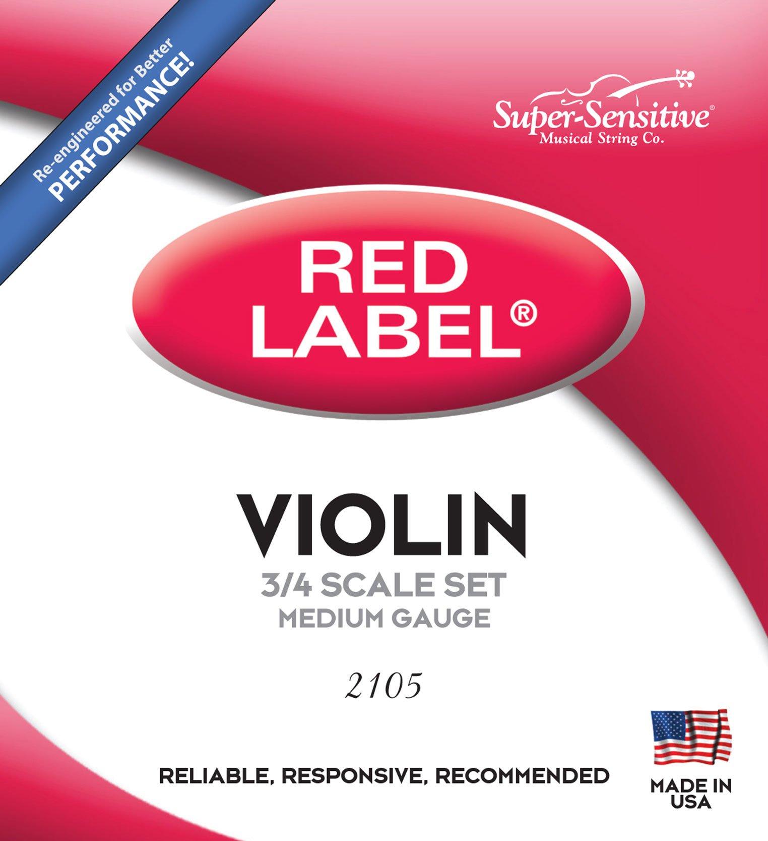 Super Sensitive Steelcore 3/4 Violin Strings: Set