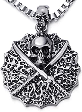 collier pirate homme