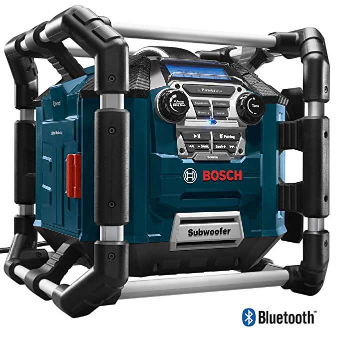 Amazon.com: Bosch PB360C Power Box con radio AM/FM/cargador ...