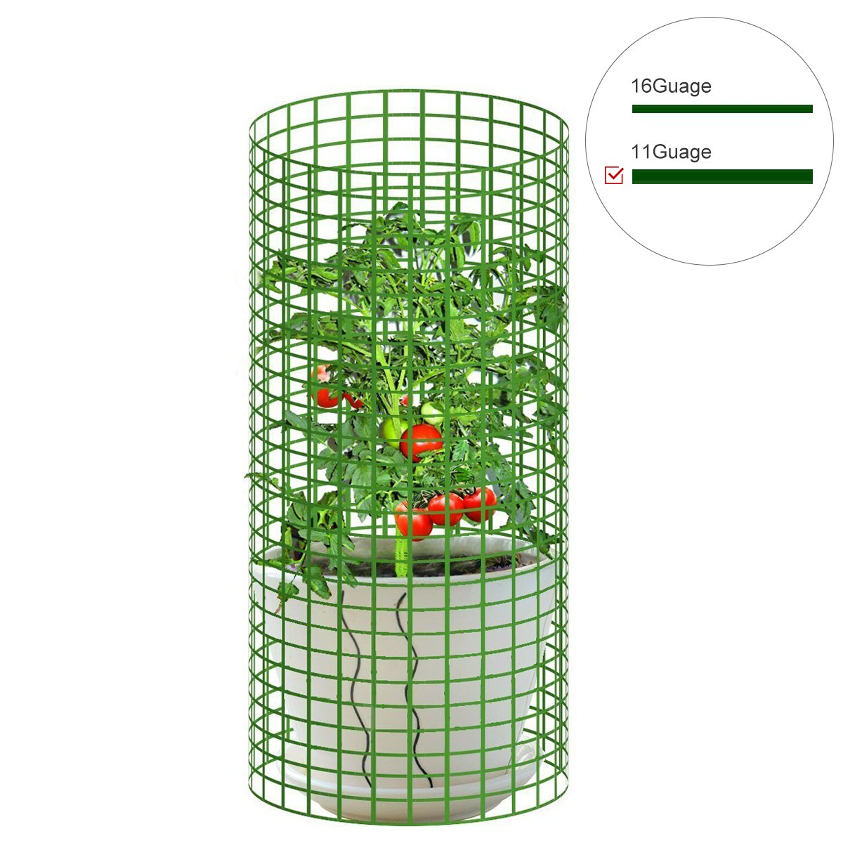 Mr.Garden 4ft-Hx25ft-L Mesh 2.4 inch Openings PVC Coated Fence Wire Poultry Netting Gutter Guards Chicken Run Rabbit Fencing to Keep Out Racoons Gophor