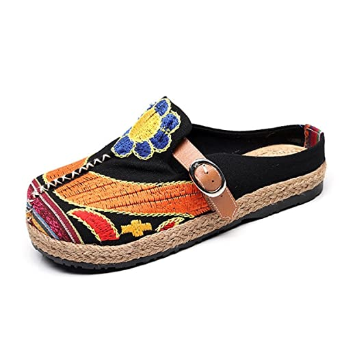 39ed1f967 Image Unavailable. Image not available for. Color  Mageed Slippers for  Summer Breathable Hemp Flat Casual Shoes ...