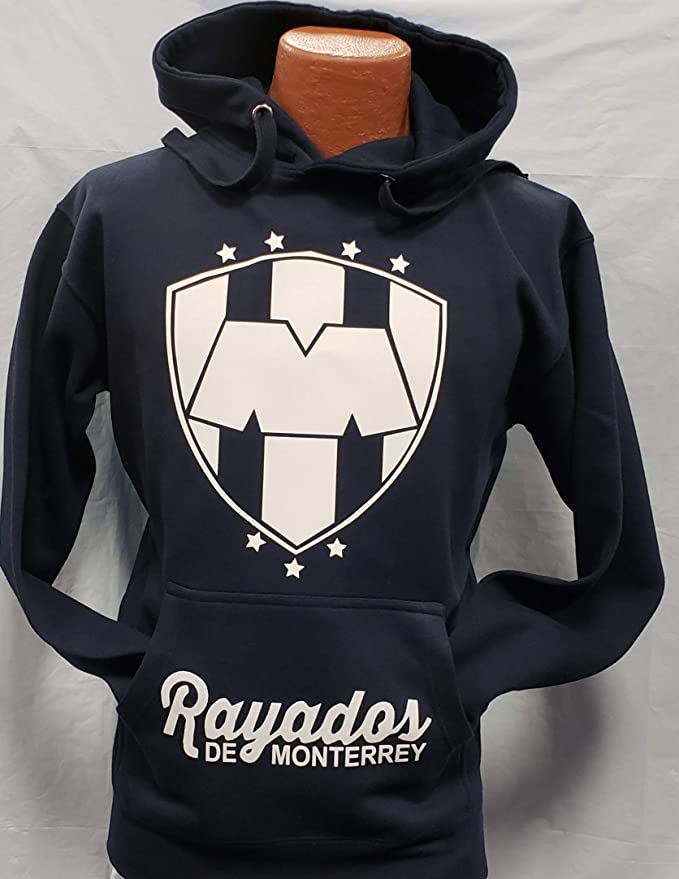 Club Deportivo Rayados de Monterrey Sudadera Hoodie Liga MX. Size 2XL : Sports & Outdoors