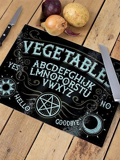 Grindstore Planche /à D/écouper Vegetables Ouija Verre Forme rectangulaire