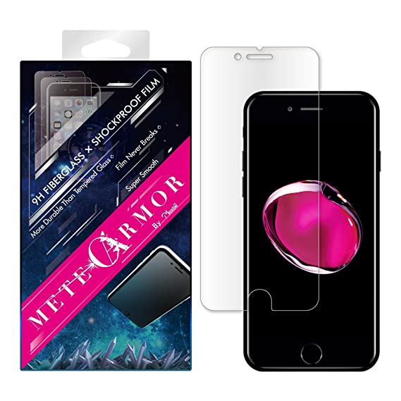grande remise pour pas mal taille 40 Unbreakable 9H Fiberglass Screen Protector for iPhone 7/8 or iPhone 7/8  Plus - Moxbii Metearmor Shockproof Film - Scratch Proof, Smooth Touch, High  ...