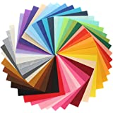 Misscrafts 44pcs 10cm*10cm Assorted Colours Nonwoven Acrylic Solid Felt Fabric Sheets Patchwork Sewing DIY Polyester Craftwork Thick 1mm