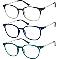 8bb6294c43 Reading Glasses 3 Pair Stylish Color Readers Fashion Glasses for Reading Men    Women