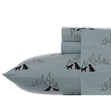 Eddie Bauer Dog Friends Flannel Sheet Set, Queen
