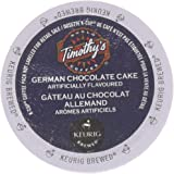 48 Count - Timothy's German Chocolate Cake Flavored Coffee K-Cup For Keurig Brewers
