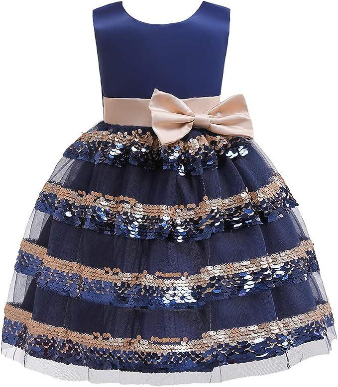 Vestito Abito Bambine Festa Nozze Ragazze Stampare Farfalla Ricamo Ragazza da Cerimonia Nuziale del Partito di Compleanno Festa della Damigella Estate Dress