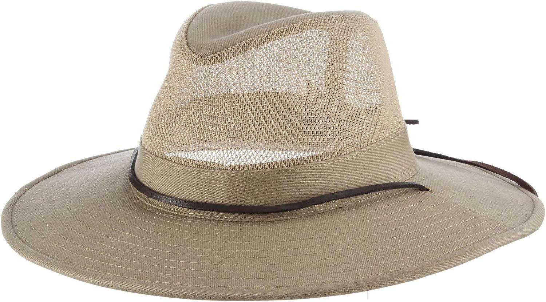 "Protection 23/"" Khaki  Size S//M Mens Outback Hat Aussie Wide Brim Safari UPF 50"