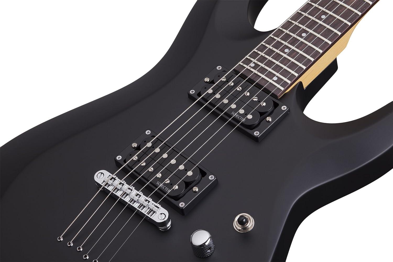 Schecter 430 C-6 Deluxe - Guitarra eléctrica, diseño satinado, color negro: Amazon.es: Instrumentos musicales