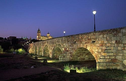 Fotografía para decorar/Obra firmada por el autor/Puente romano. Salamanca. Castilla y León. España © Javier Prieto Gallego: Amazon.es: Handmade