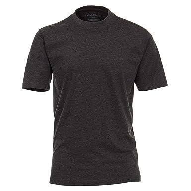 CASAMODA Männer T-Shirt Kurzarm grau meliert Übergrößen bis 6XL ... 853c69b26e