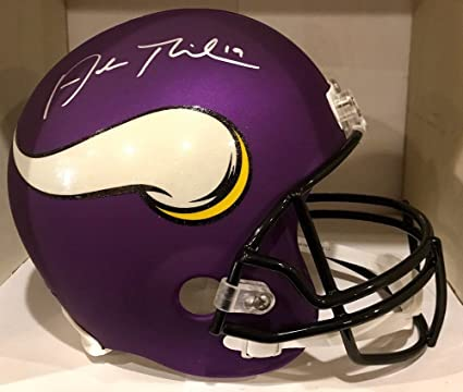 Adam Thielen Signed Vikings F S Custom Matte Helmet