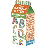 "Mudpuppy Playful Patterns Wooden Magnetic ABCs Set – 40-Piece Set of Magnetic Uppercase Letters 1.75"" Tall for Ages 3+"