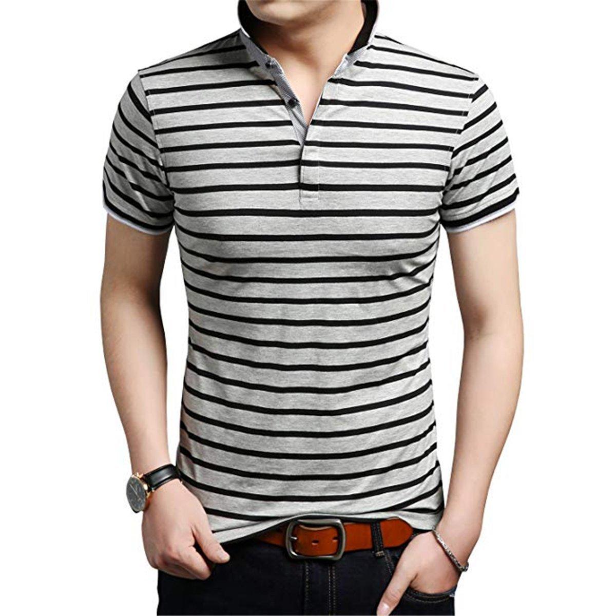 FCYOSO Mens Polo Shirts Short Sleeve Slim Fit Polo T Shirts